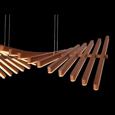 Remy Wood Spiral LED Chandelier - Italian Concept