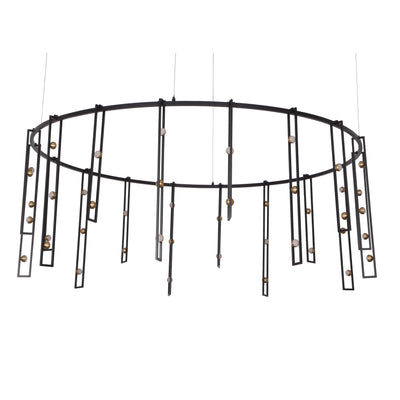 "Timothee Bistro 60""W Round LED Chandelier - Italian Concept"