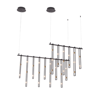 "Timothee Bistro 60""W Linear LED Chandelier - Italian Concept"