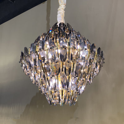 Sol Odeon Crystal Tiered Chandelier - Italian Concept