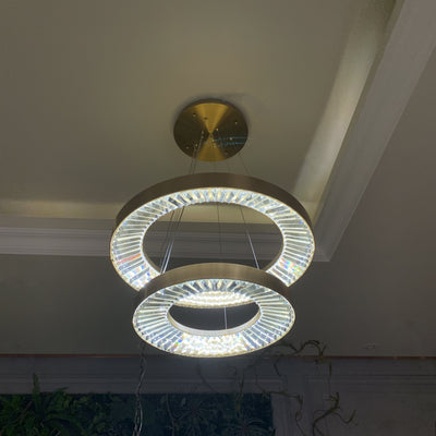 Liam Round Ring LED Chandelier - Italian Concept