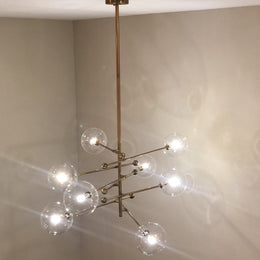 6 Light Globe Branching Bubble Chandelier - Italian Concept