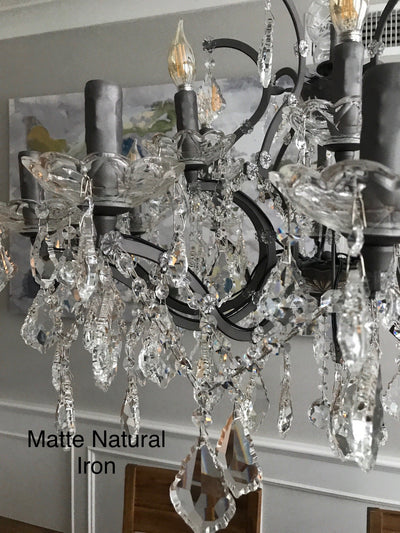 4 Light Maria Theresa Crystal Chandelier - Italian Concept