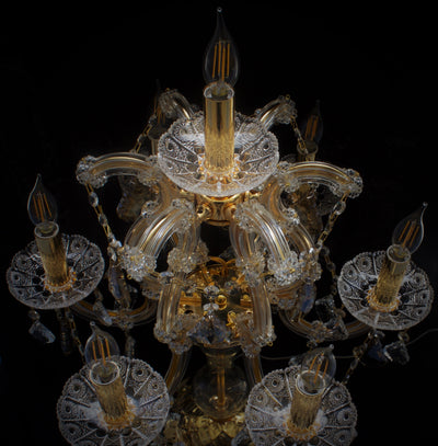 Maria Theresa 7 Light Crystal Table Lamp - Italian Concept