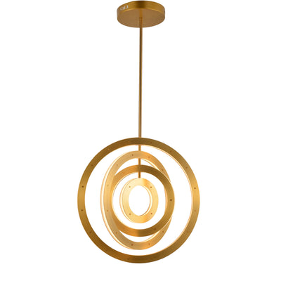 Ionic 4-Ring Tiered LED Round Chandelier - Italian Concept