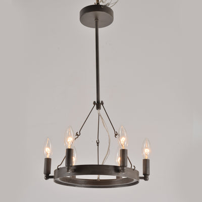 Metal Wheel Barrel Pendant Light - Italian Concept