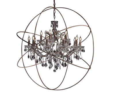 MN Iron Orb Crystal Chandelier - Italian Concept