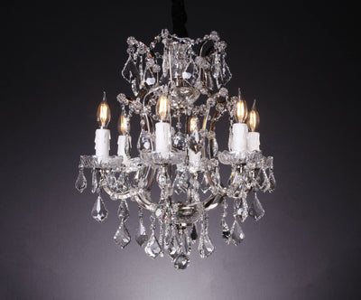6 Light Maria Theresa Crystal Chandelier - Italian Concept