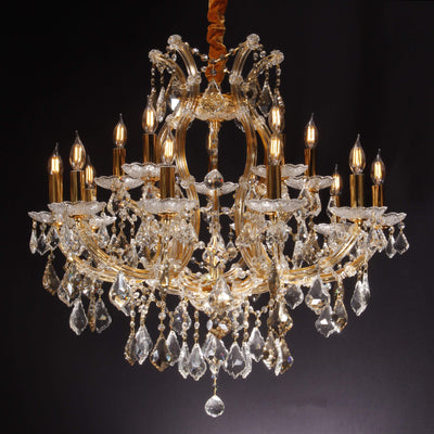 "Maria Theresa 16 Light 32"" Crystal Chandelier - Italian Concept"