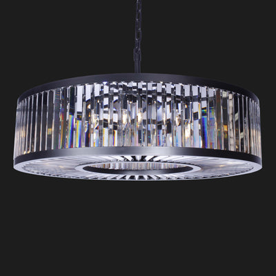 "Apex 43""W Round Crystal Chandelier - Italian Concept"