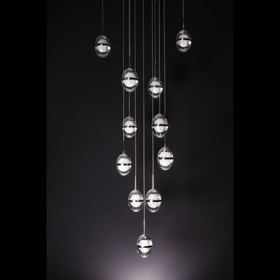 "Finite 20"" LED Glass Globe Bubble Chandelier - Italian Concept"