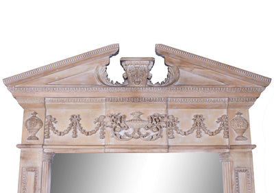 Large Hand-Carved Modern Wood Mirror - Italian Concept
