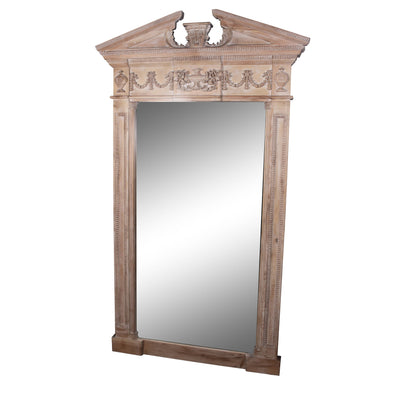 LARGE NATURAL WOOD MIRROR - Italian Concept