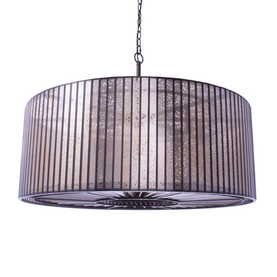 Round Mercury Glass Chandelier - Italian Concept