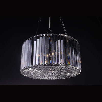 Single-Tier Layer Odeon Clear Crystal Fringe Chandelier - Italian Concept