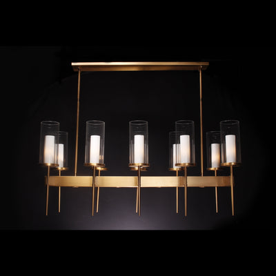 ULTA Brass Linear Rectangular Chandelier - Italian Concept