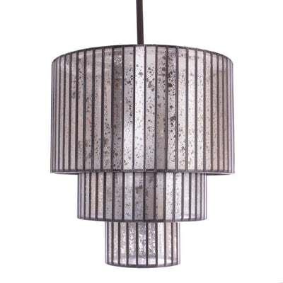 3-Tier Mercury Glass Pendant Light - Italian Concept