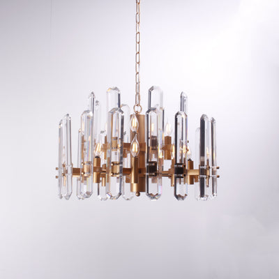 Ruby Crystal Glacier Shards Chandelier - Italian Concept