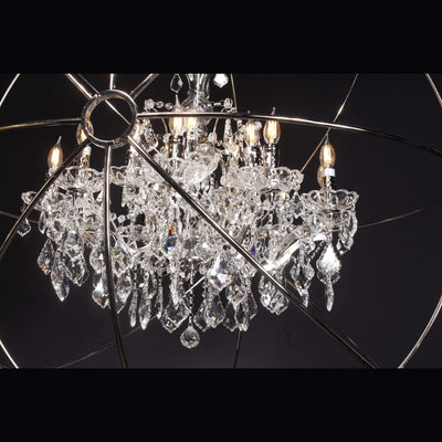 MN Iron Orb Smoke Crystal Chandelier - Italian Concept