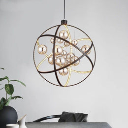 "Mercury 20"" LED Glass Globe Chandelier - Italian Concept"