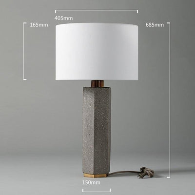 Concrete Column Table Lamp - Italian Concept