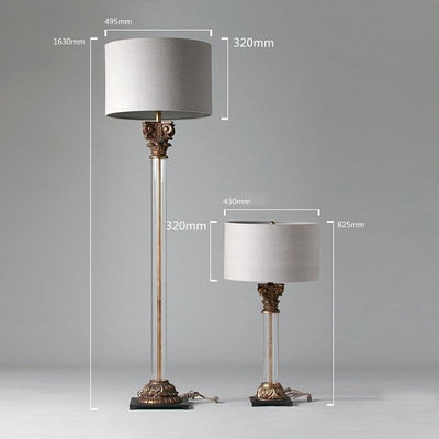 18th C. Aris Table Lamp With Shade - Italian Concept