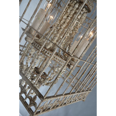 Caged Beaded Stone Empire Chandelier - Italian Concept
