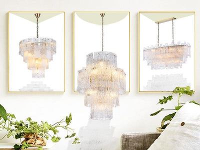 Giovanni Tiered Murano Glass Chandelier - Italian Concept