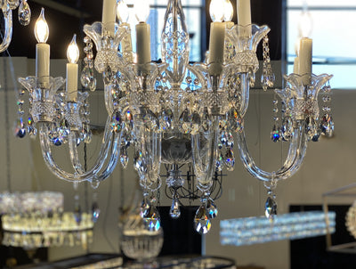 "Scala 20 Light 69"" Crystal Chandelier - Italian Concept"