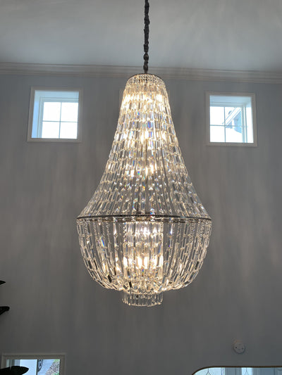Andreas Empire Crystal Prysm Chandelier - Italian Concept