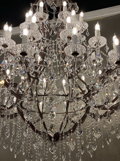 "50 Light 60"" Rococo Maria Theresa Crystal Chandelier - Italian Concept"