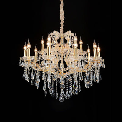 "Maria Theresa 16 Light Silver 32"" Crystal Chandelier - Italian Concept"