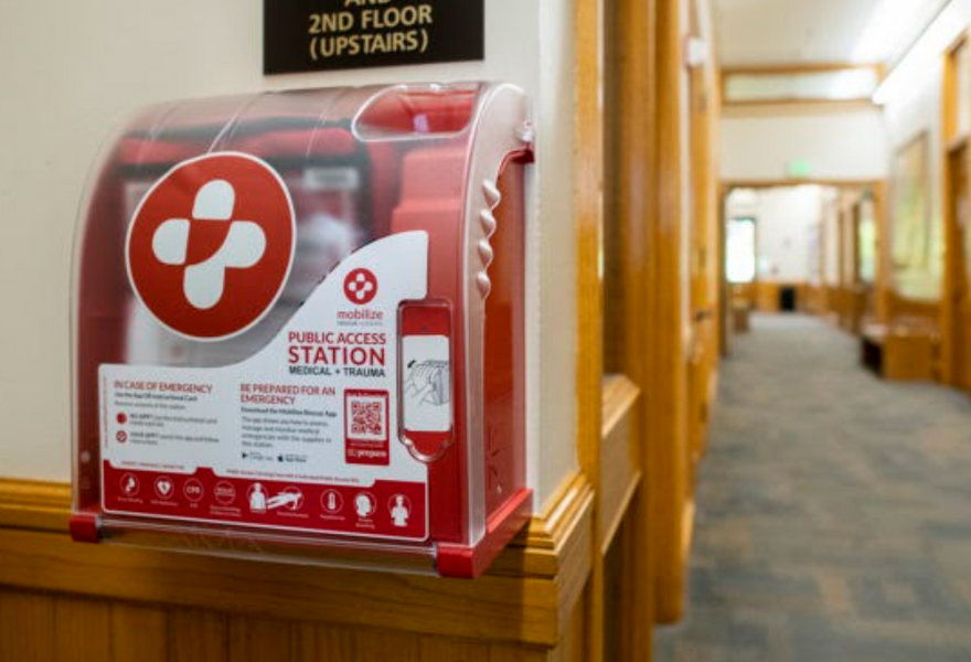 Universities make the safety of their students and staff a priority, by placing life saving trauma kits across campus.