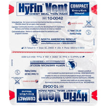 HYFIN VENT COMPACT CHEST SEAL TWIN-PACK $11.95