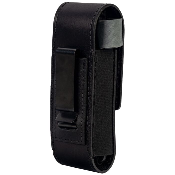 black leather tourniquet case with metal clip