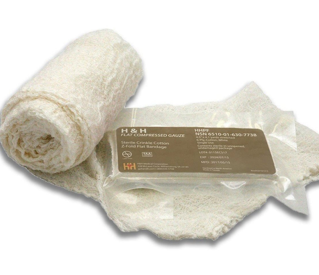 H&H Z-fold Flat Packed Gauze  ~ 1 Free with every $25.00 Purchase