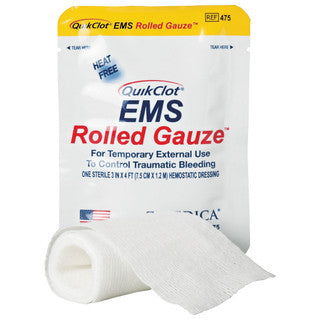 Quikclot EMS Rolled Gauze  Discounted - Only $11.00