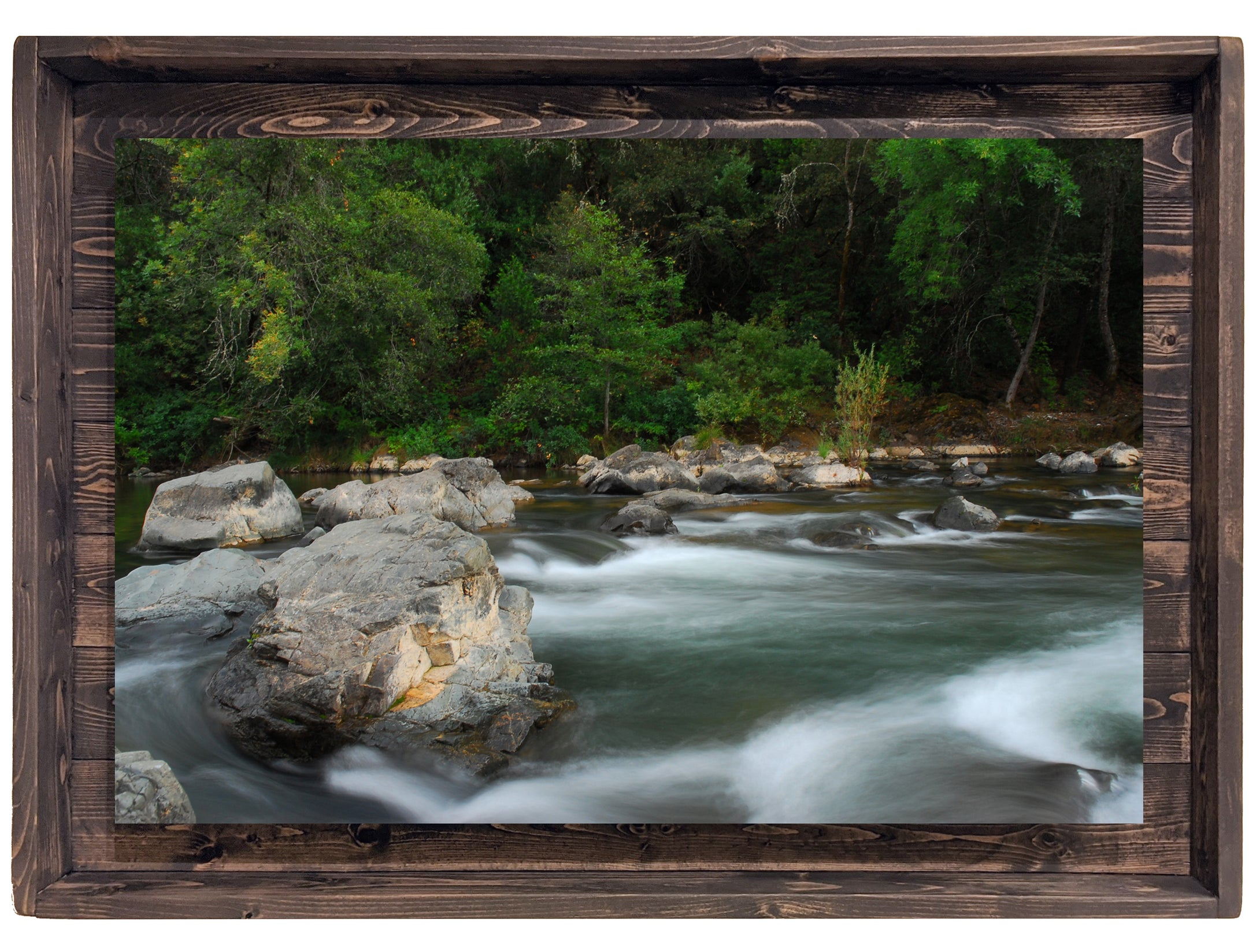 Serenity Amidst the Chaos (Modern Rustic Floating Art Print with Hidden Storage for Jewelry)