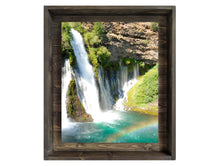 Fall Into A Pool of Colors (Modern Rustic Floating Art Print with Hidden Storage for Mail)
