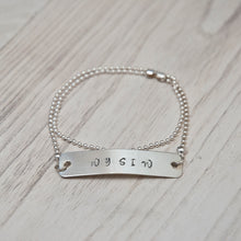 Hand Stamped WYSIW Bracelet (Sterling Silver) - Double Wrap