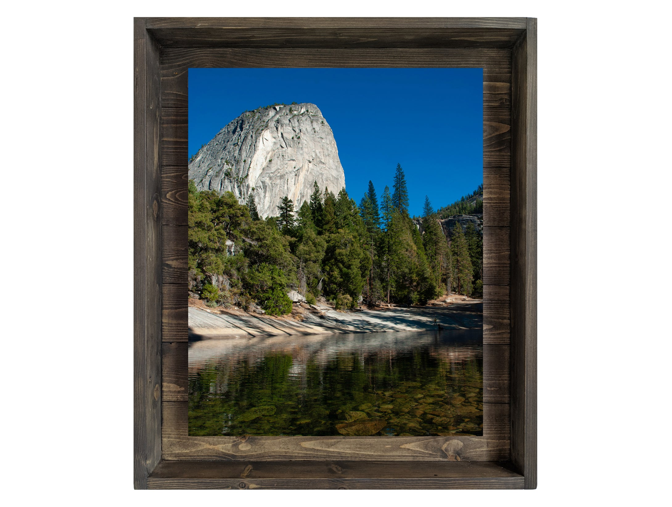 Emerald Pool of Serenity (Modern Rustic Floating Art Print with Hidden Storage for Mail)