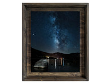 Lake of Stars and Stone (Modern Rustic Floating Art Print with Hidden Storage for Mail)
