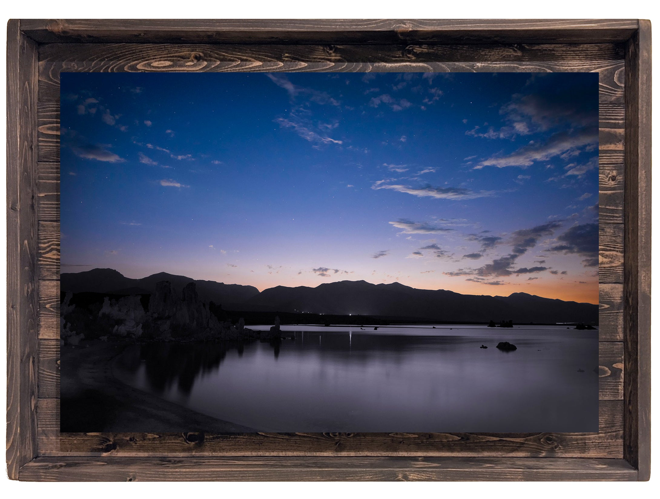 Serene Slumber of the Tufa (Modern Rustic Floating Art Print with Hidden Storage for Jewelry)