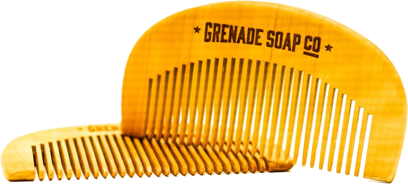 Grenade Soap Co Wooden Beard Comb