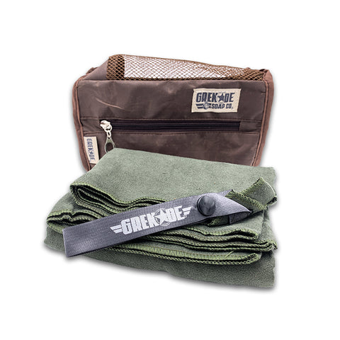 Grenade Soap Co. Microfiber Travel Towel with Storage Bag