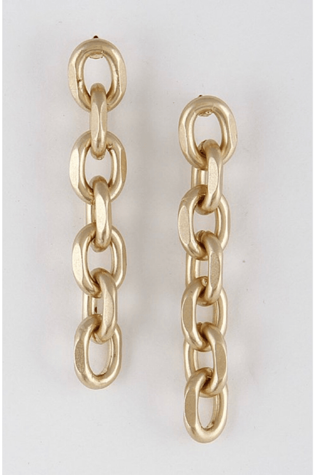 lee monet Chainlink Drop Earrings