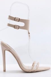 lee monet Damita Ankle Cuff Heel (Nude)