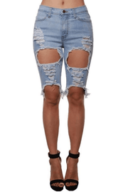 lee monet Dope Chick Denim Bermuda Shorts