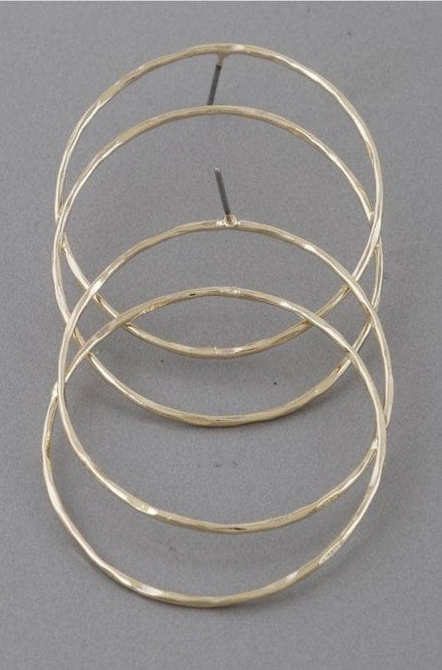 lee monet Double Hoop Earrings- Gold