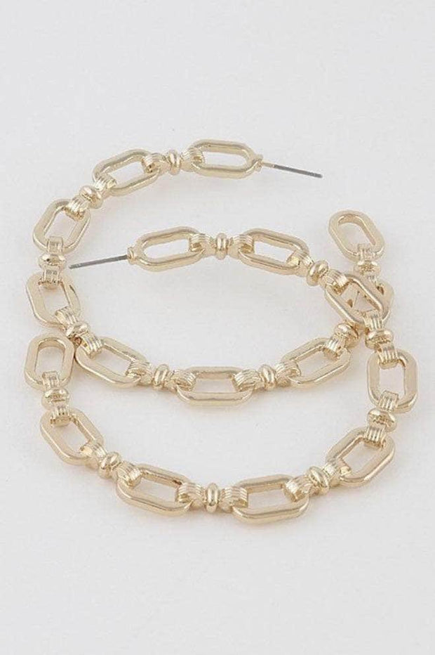 lee monet Gold Chain Hoops